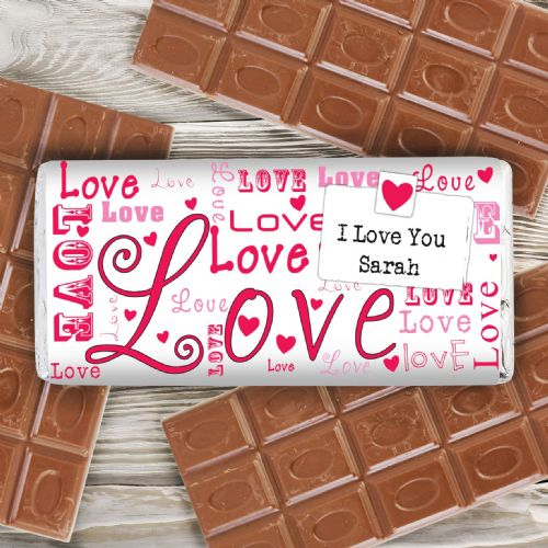 Personalised Lots of Loves Chocolate Bar